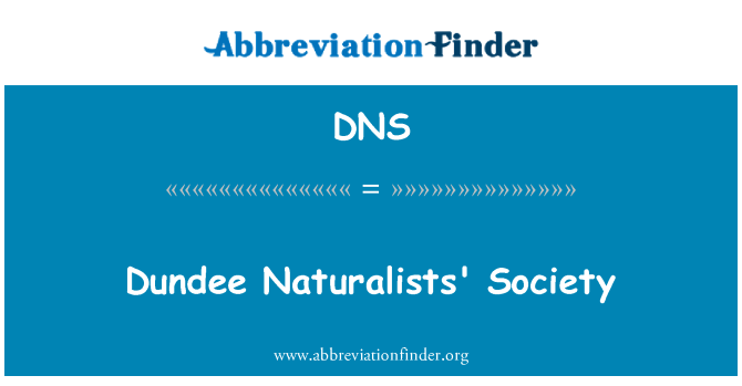 DNS: Dundee Naturalists' Society