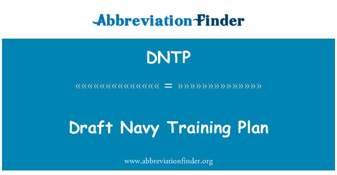 DNTP: Taslak donanma eğitim planı