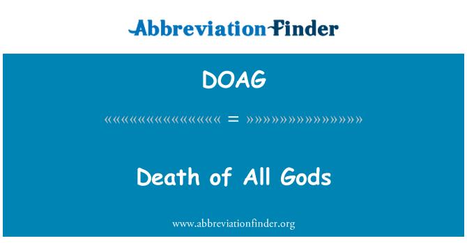 DOAG: Muerte de todos los dioses