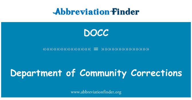 DOCC: Departamento de reformatorio