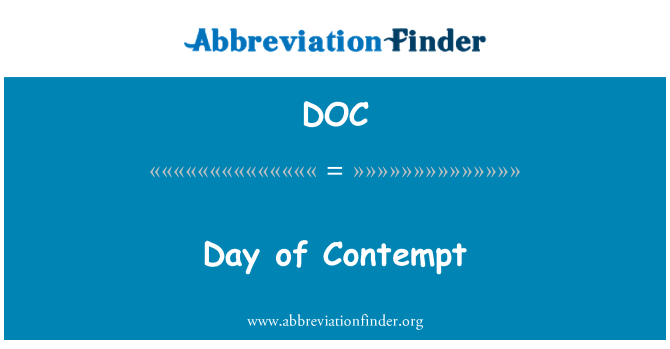 DOC: Day of Contempt
