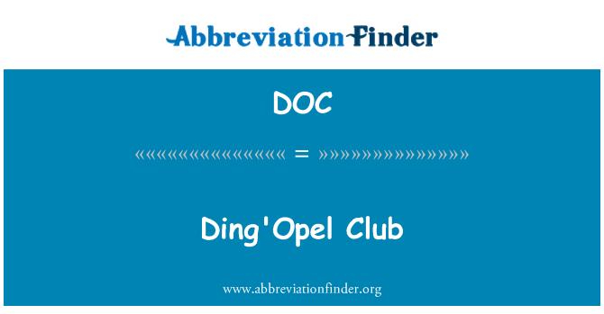 DOC: Ding'Opel Club