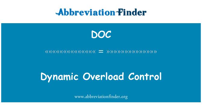 DOC: Dynamic Overload Control