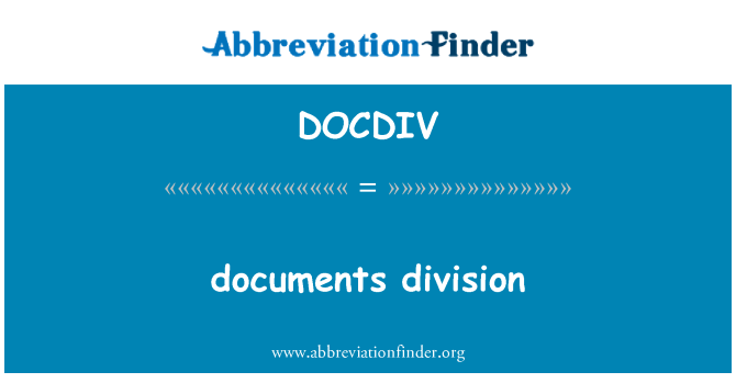 DOCDIV: documents division