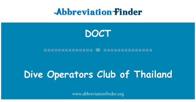 DOCT: Dive Operators Club of Thailand