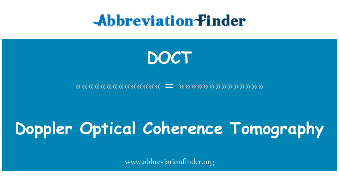 DOCT: Doppler Optical Coherence Tomography