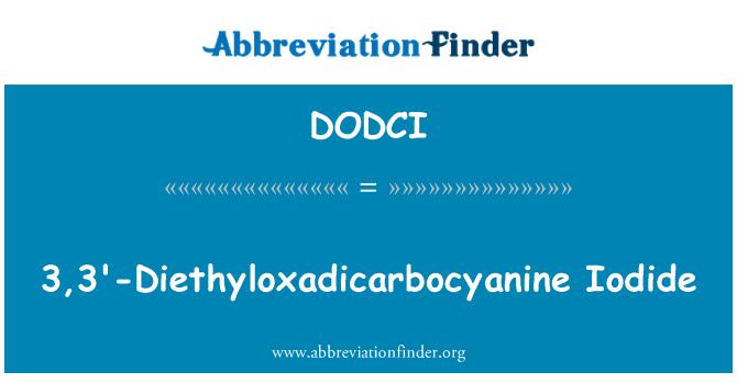 DODCI: 3, 3'-Diethyloxadicarbocyanine jodid