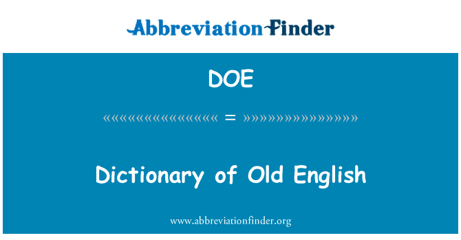 DOE: Dictionary of Old English