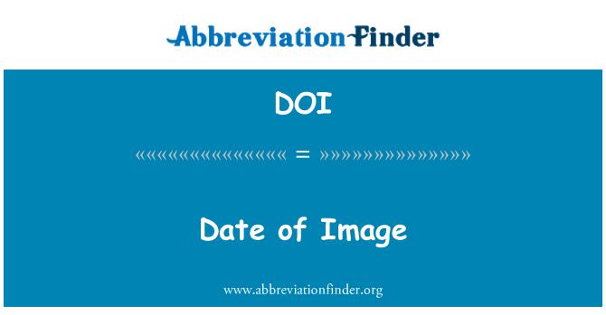 DOI: Date of Image