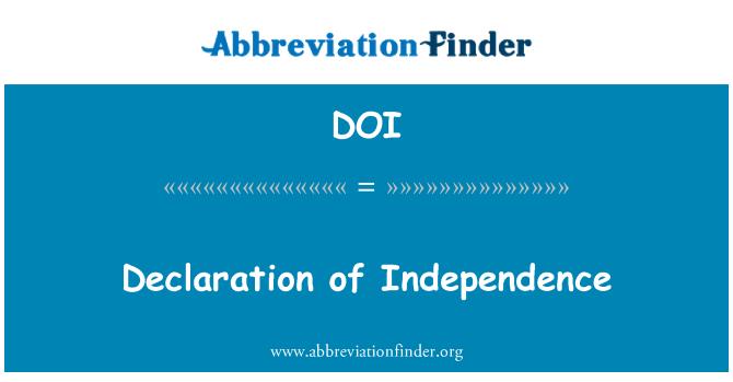 DOI: Declaration of Independence