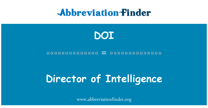 DOI: Director of Intelligence