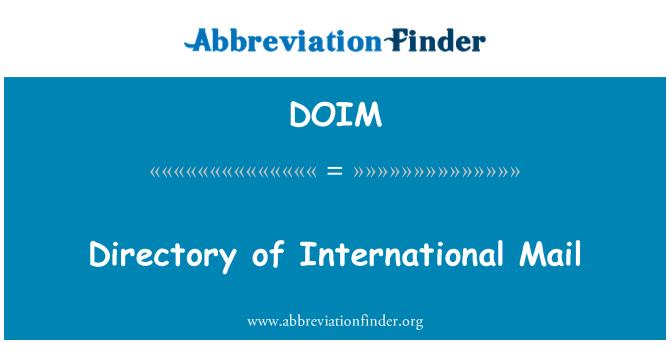 DOIM: Directorio de correo internacional