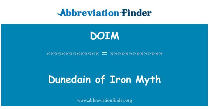 DOIM: Dunedain del mito de hierro