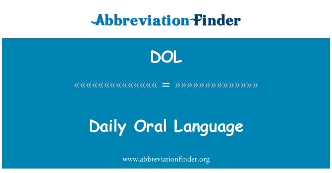 DOL: Daily Oral Language