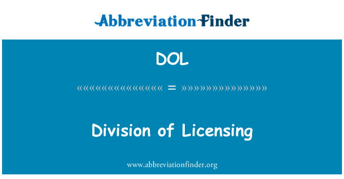 DOL: Division of Licensing