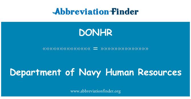 DONHR: Department of Navy Human Resources