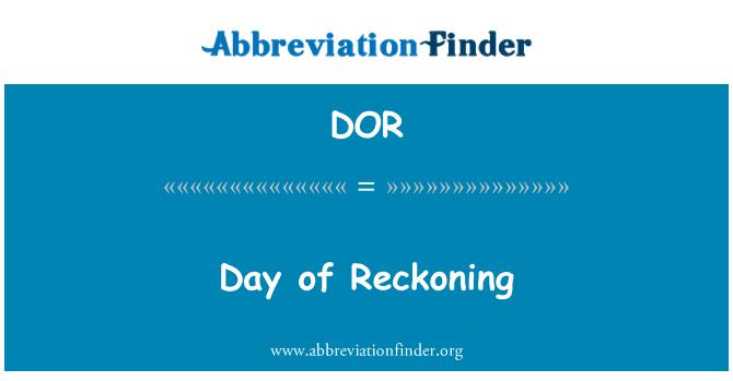DOR: Day of Reckoning