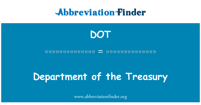 DOT: Department of the Treasury