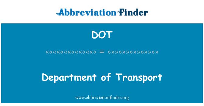 DOT: Department of Transport