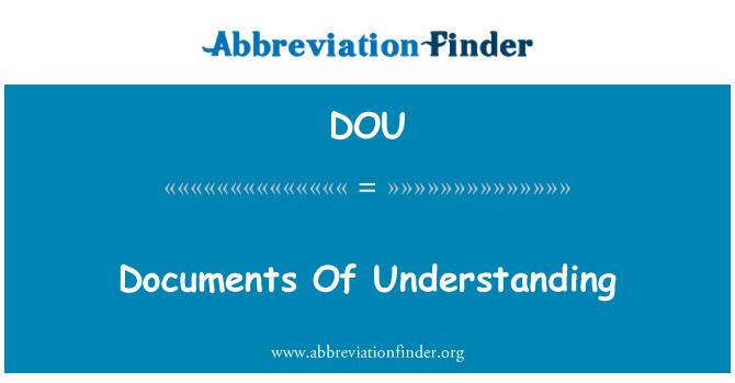 DOU: Documents Of Understanding
