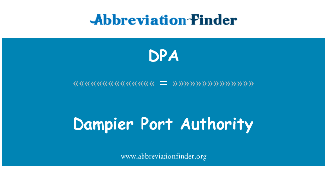 DPA: Dampier Port Authority