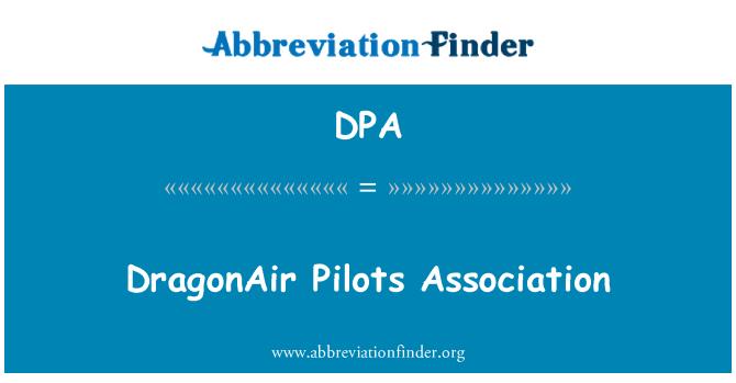 DPA: DragonAir Pilots Association