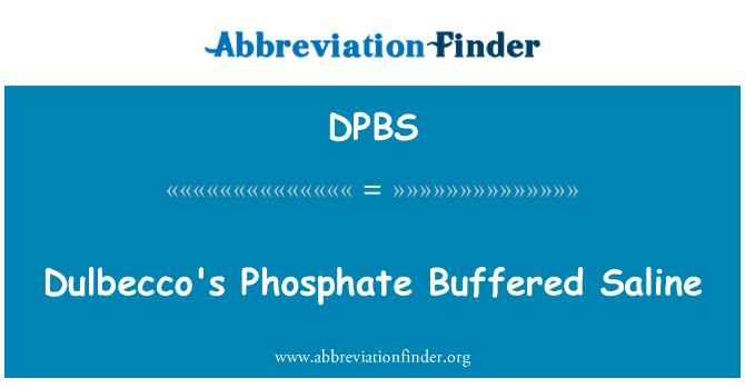 DPBS: Tampón fosfato de Dulbecco salino