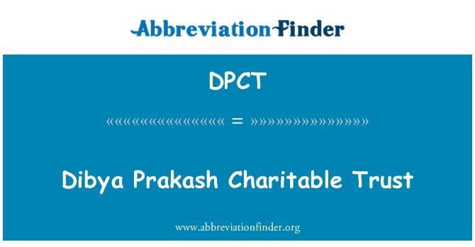 DPCT: Confiance Bienfaisance Dibya Prakash