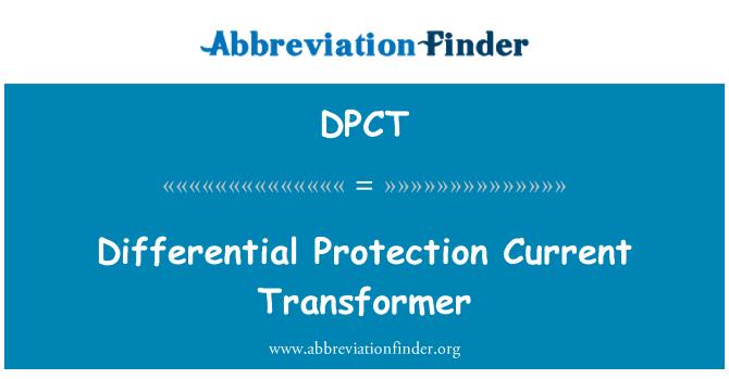 DPCT: Saat ini transformator diferensial perlindungan