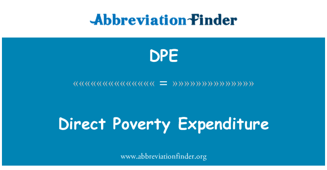 DPE: Direct Poverty Expenditure