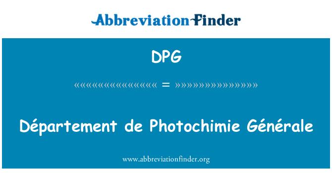 DPG: Département de Photochimie Générale