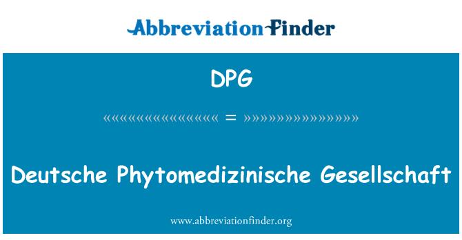 DPG: Deutsche Phytomedizinische Gesellschaft