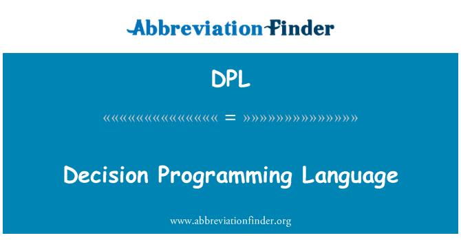 DPL: Decision Programming Language