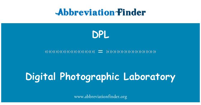 DPL: Digital Photographic Laboratory