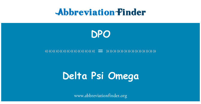 DPO: Delta Psi Omega