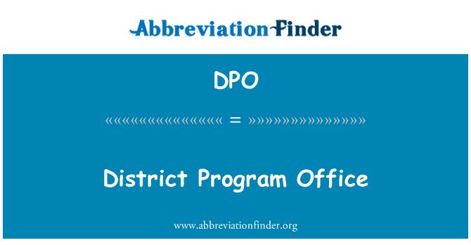 DPO: District Program Office