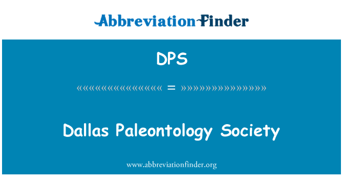 DPS: Dallas Paleontology Society