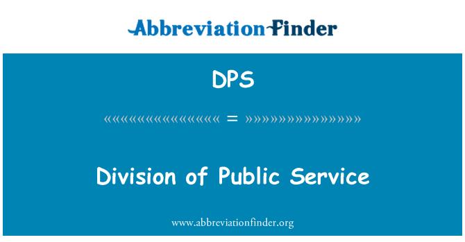 DPS: Division of Public Service