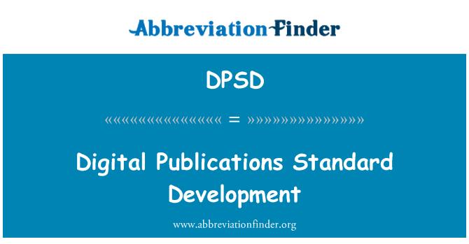 DPSD: Desarrollo estándar de publicaciones digitales