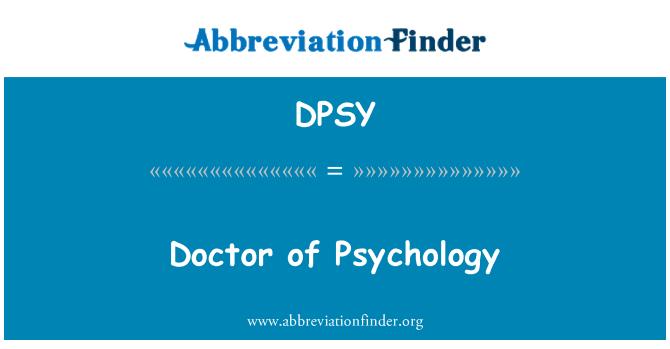 DPSY: Doctor of Psychology