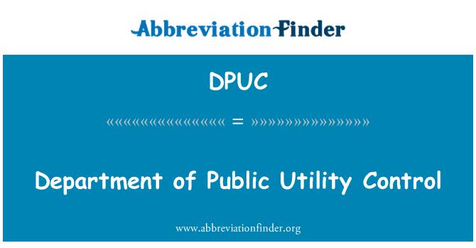 DPUC: Department of Public Utility Control