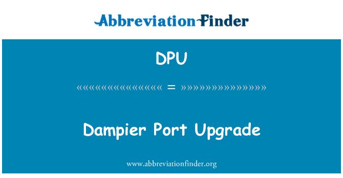 DPU: Dampier Port Upgrade