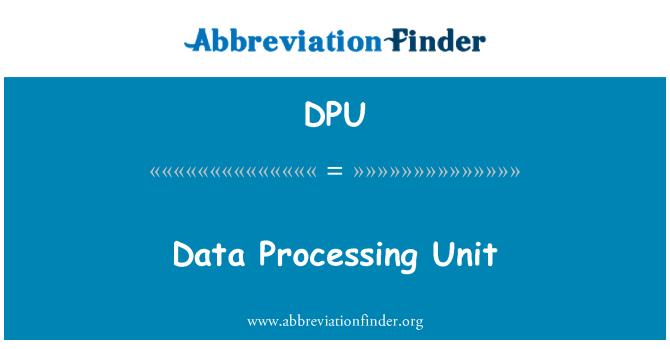 DPU: Data Processing Unit