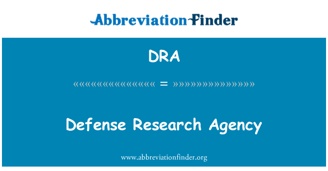 DRA: Defense Research Agency