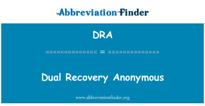 DRA: Dual Recovery Anonymous