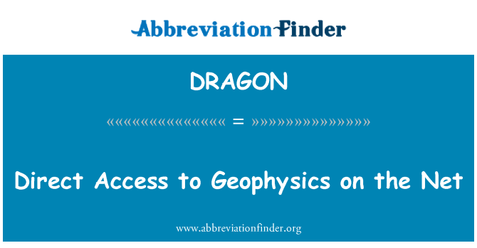 DRAGON: Acceso directo a la geofísica en la red