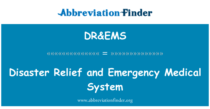 DR&EMS: Disaster Relief and Emergency Medical System