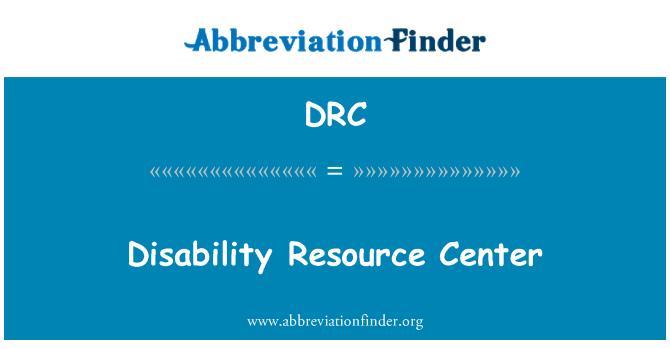 DRC: Disability Resource Center