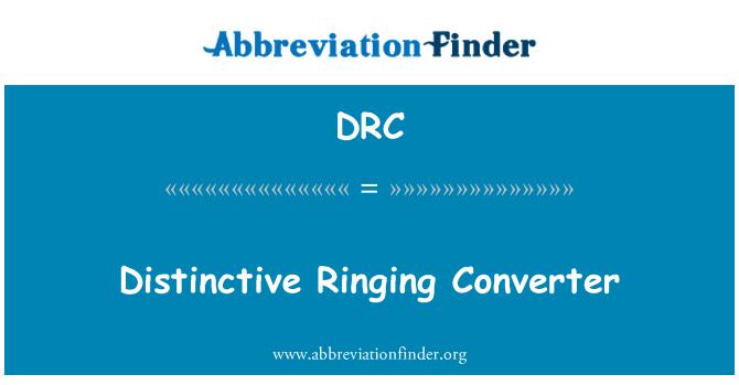 DRC: Distinctive Ringing Converter