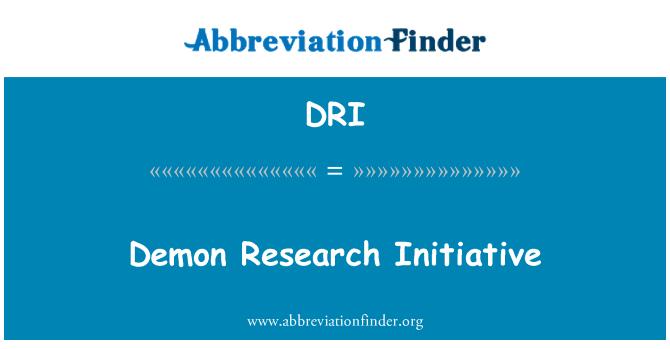 DRI: Demon Research Initiative